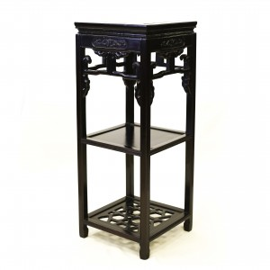 Solid Rosewood Square Flower Stand With Shelves Dark Cherry Color - LPK SQ FS