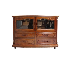Rosewood TV Console Low Cabinet Natural Finish  - C C2307