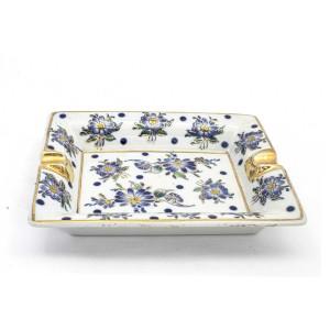Chinese Oriental Design Square Astray Blue & White Big - CHSQASHTR-003