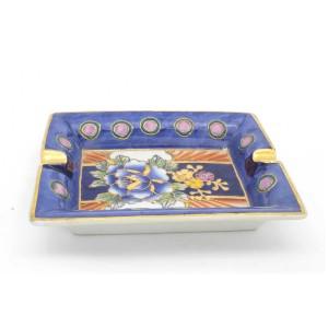 Chinese Oriental Design Square Astray Blue & Pink Big - CHSQASHTR-004