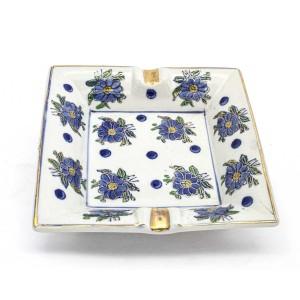 Chinese Oriental Design Square Astray Blue & White Flower Design Big - CHSQASHTR-011