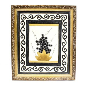Handpainted Grape Fruit Cuisine ART Painted With Carved Framed Edges - HLNPPICTURE08