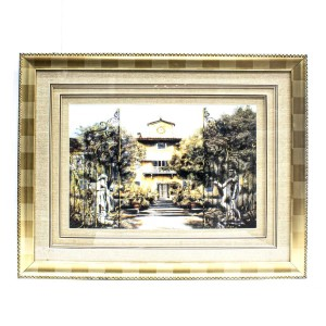 Handpainted House Painting Wall Art  Painted With Carved Framed Edges - HLNPPICTURE14