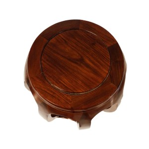 Solid Rosewood Large Drum Stool Handpolished Wood Grains Natural Finish - LK20/00056NL
