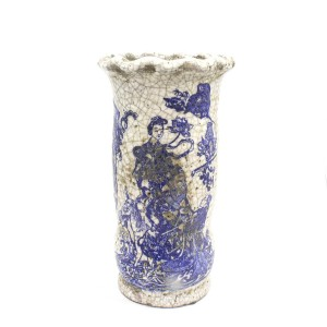 Antique Type Pottery Planter Flower Vase For Home Decor Antique Collection Blue & White - LKANTIQUEV02