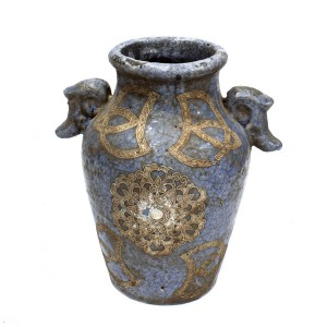 Antique Type Pottery Planter Flower Vase For Home Decoration Aged Look for Antique Collection Blue  - LKANTIQUEV04
