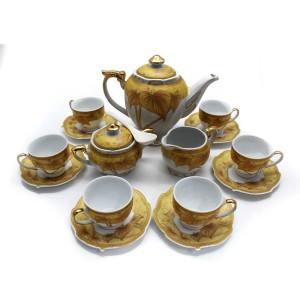 Ceramic Traditional Tea Serving Set 15 Pc Set - LKJT-TS03
