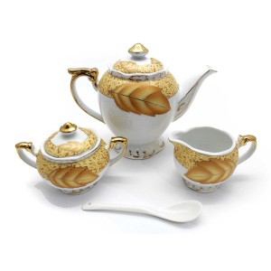 Ceramic Traditional Tea Serving Set 15 Pc Set - LKJTA1