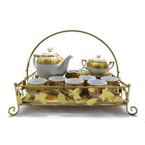 Ceramic Traditional Tea Serving Set 15 Pc Set - LKJTA1G