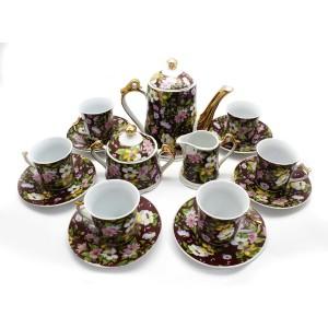 Ceramic Traditional Tea Serving Set 15 Pc Set - LKJW980499