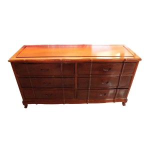 Natural Finish Rosewood Chinese Sideboard 6 Drawers- LPK BUFFET 01