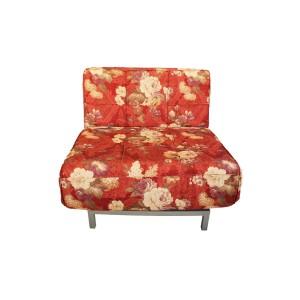 Single Seater Sofa Cum Bed Floral Design Red Color - MDF MR802
