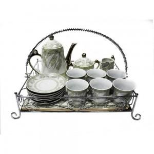 Ceramic Traditional Tea Serving Set 15 Pc Set - LKJT-TS02