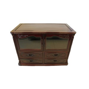 Rosewood TV Console Dark Red Cherry Finish FS-G864