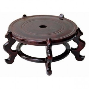 """Handmade Craftsmanship 7"""" Five Leg Brown Fishbowl Planter Stand made of Wood Holds Vases Fish Bowl Plants and Antiques LK95-7IN01"""